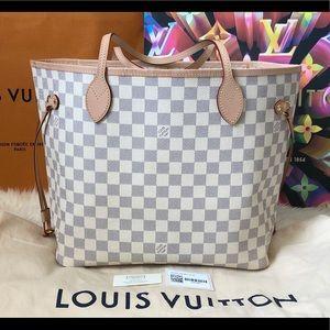 🇫🇷🥳 Louis Vuitton Neverfull MM Damier Azur